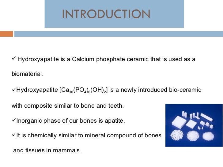 Hydroxyapatite synthesis and its chromatographic properties Slide 3