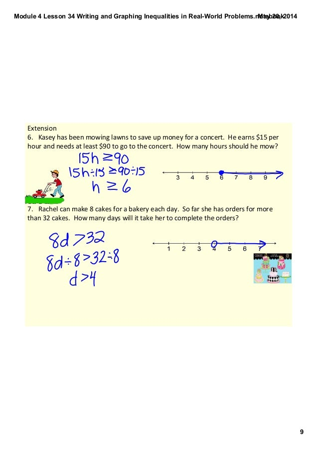 Writing and Graphing Inequalities in Real-World Problems