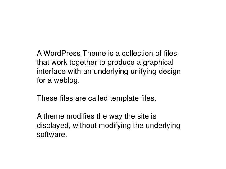 WordPress structure<br />