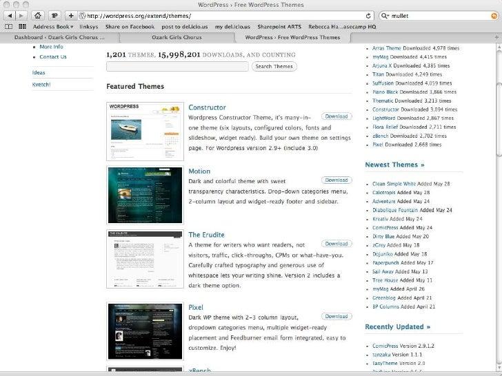 Typical WordPress Layout<br />Header<br />Content<br />Sidebar<br />Footer<br />