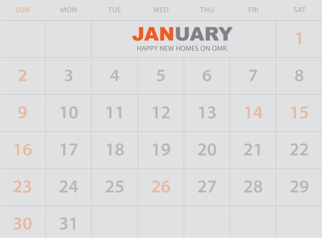 Happiness begins in JANUARY