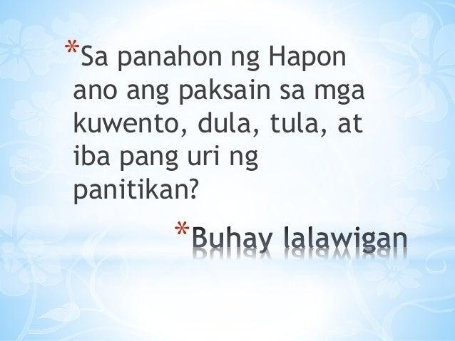 tula sa panahon ng hapon Panitikan sa panahon ng mga hapones find this pin and more on filipino 8 by hoodies2002 uri ng tula panitikan sa panahon ng hapon.