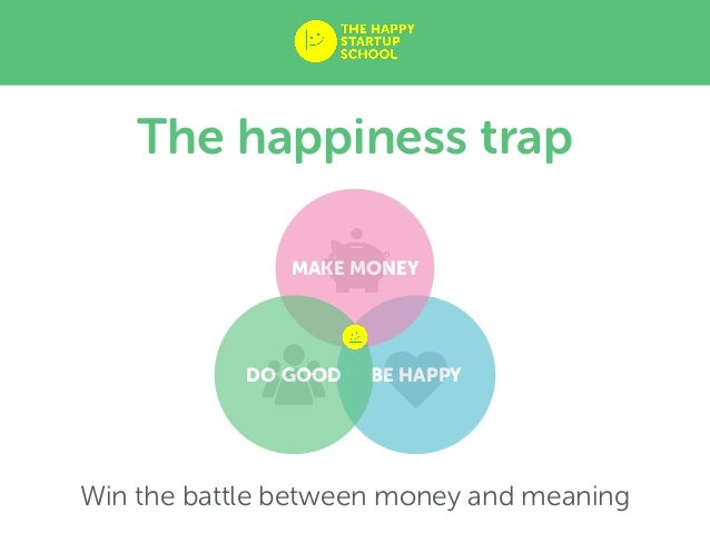 BE HAPPY MAKE MONEY DO GOOD The happiness trap Win the battle between money and meaning