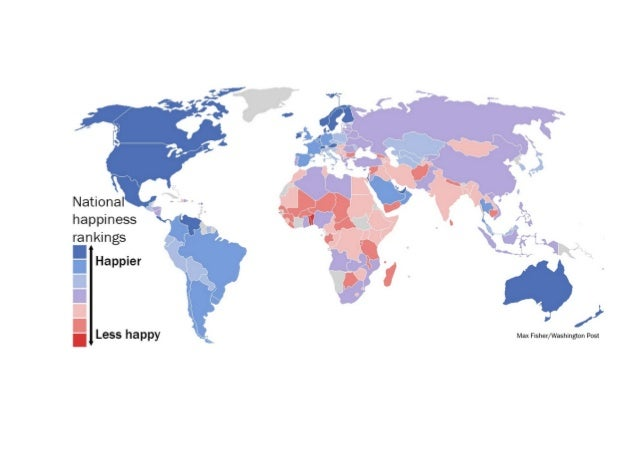 Happiness map of the world