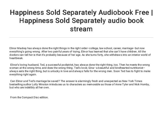 Happiness Sold Separately Audiobook Free Happiness Sold Separately
