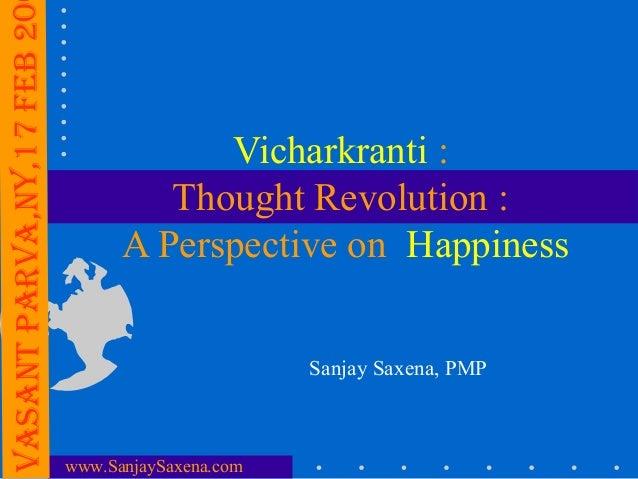 Vasant ParVa,nY,17 FEB 20                                        Vicharkranti :                                     Though...