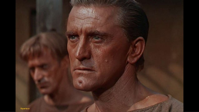 Kirk Douglas plays the title role in the 1960 film Spartacus, also directed by Stanley KubrickUniversal Studios