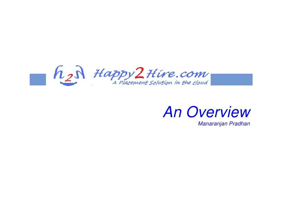An Overview     Manaranjan Pradhan
