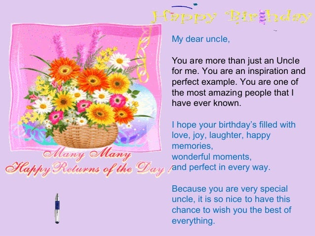 Write A Letter To Your Uncle On Th Birthday