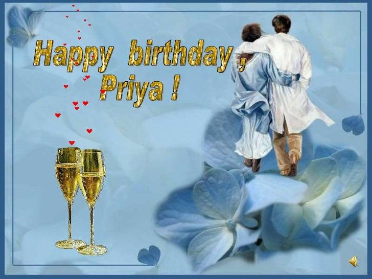 Happy  birthday , Priya !
