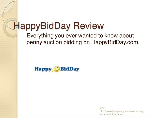 HappyBidDay Review Everything you ever wanted to know about penny auction bidding on HappyBidDay.com.  Visit http://www.be...