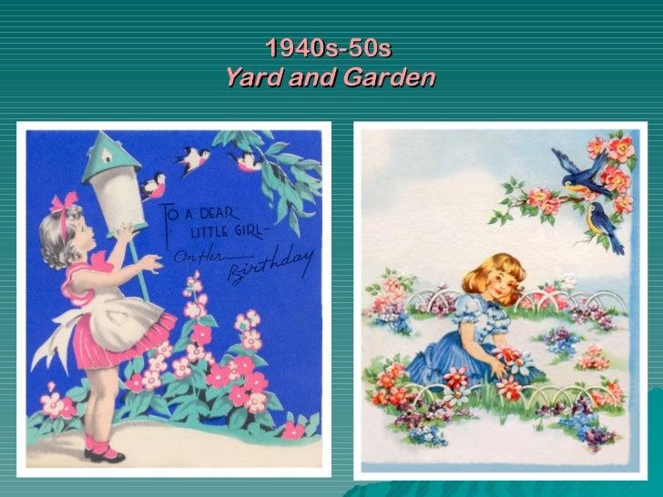 Happy birthday vintagecards 1940s 50s yard and garden bookmarktalkfo Images