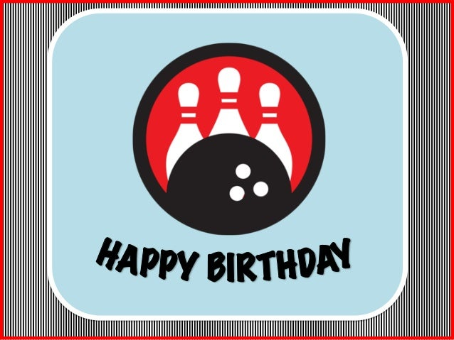 Bowling Happy Birthday Sign or Banner