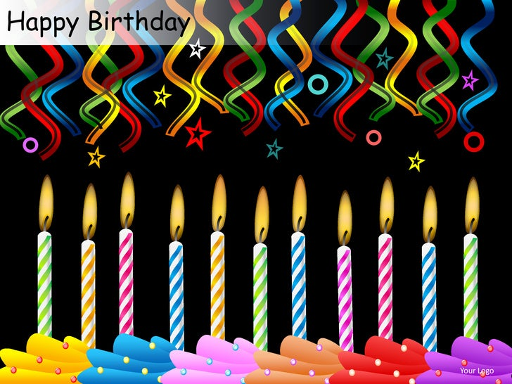 happy birthday celebrations cake candles powerpoint presentation temp
