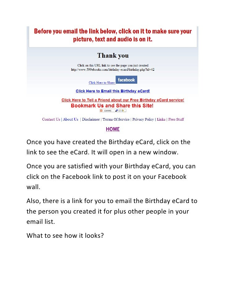 12 Once You Have Created The Birthday ECard