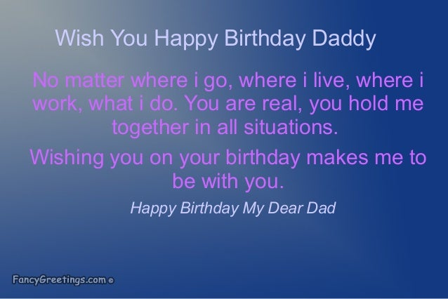 Happy Birthday Wishes Father