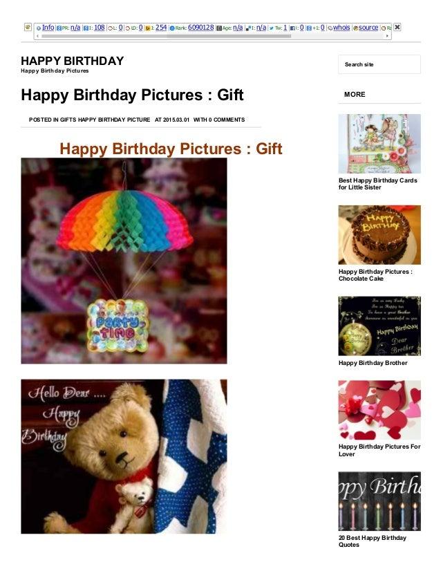 Happy Birthday Pictures Gift Happy Birthday