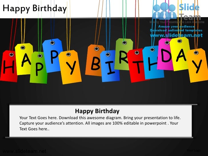 Happy birthday powerpoint ppt slides happy birthday toneelgroepblik Images