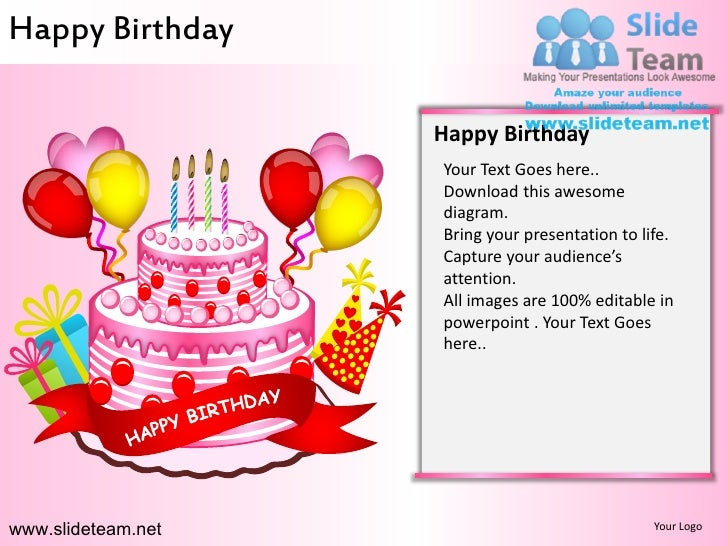 happy birthday powerpoint ppt slides