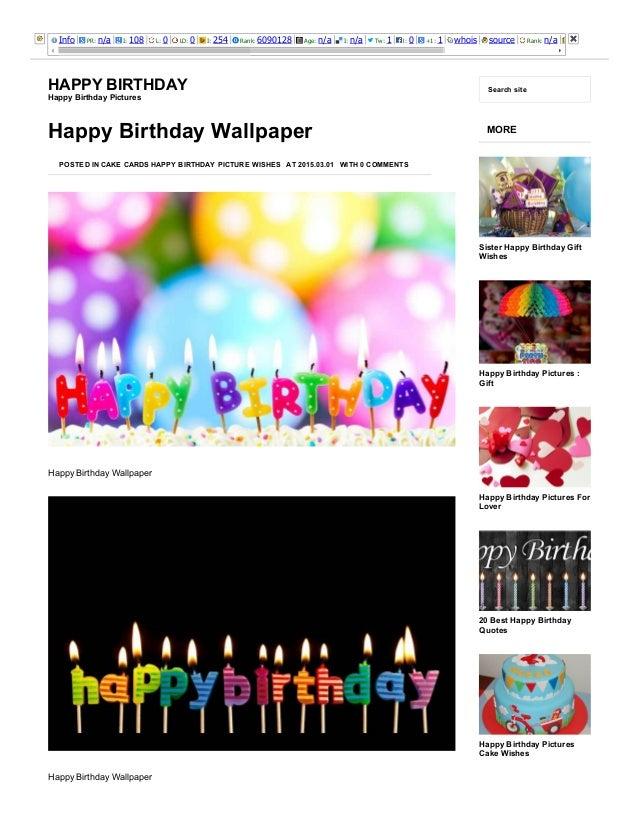 3/25/2015 HappyBirthdayWallpaperHappyBirthday http://happybirthdaypictures.co/happybirthdaywallpaper/ 1/5 Info PR:...