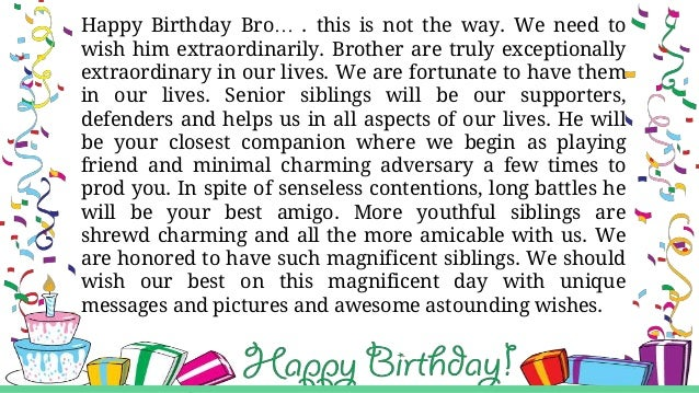 Happy Birthday Wishes And Greetings For Brother