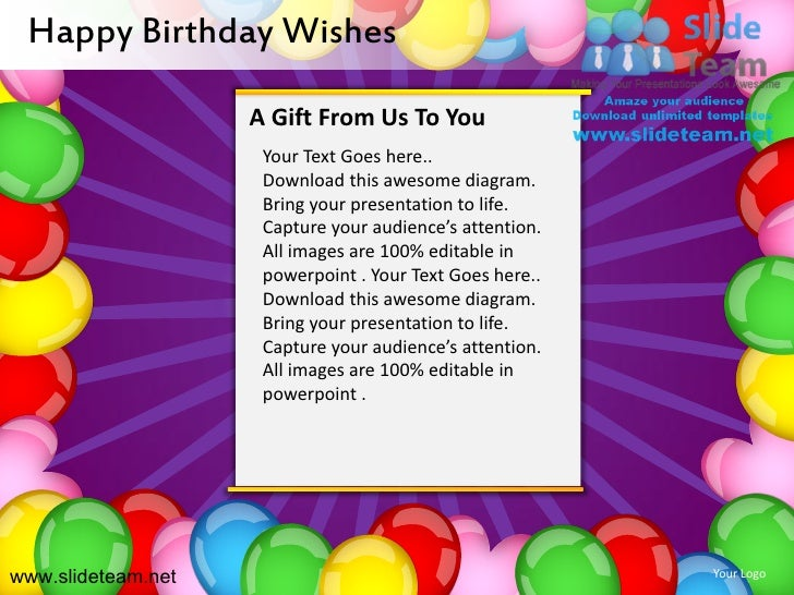 Birthday Powerpoint Karlapa Ponderresearch Co