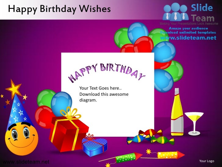 happy birthday wishes powerpoint ppt slides., Powerpoint templates
