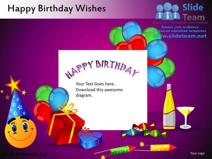 ... 14. Happy Birthday Wishes ...  Birthday Wish Template