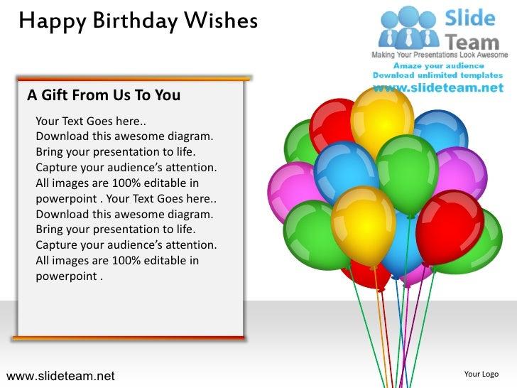 Happy birthday wishes powerpoint ppt slides – Happy Birthday Greeting Text