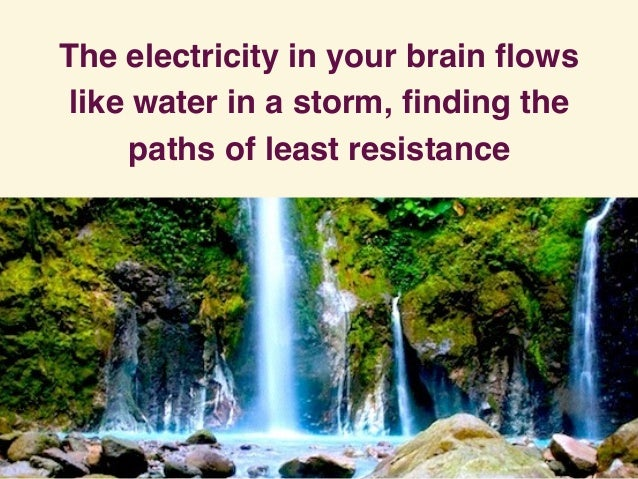 The electricity in your brain flows like water in a storm, finding the paths of least resistance