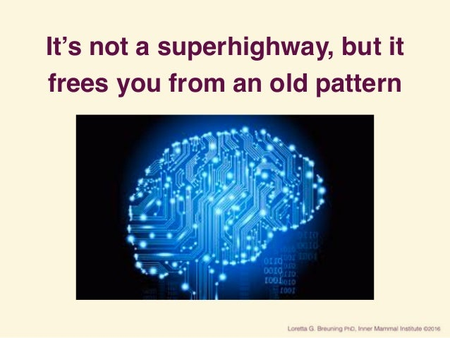 It's not a superhighway, but it frees you from an old pattern