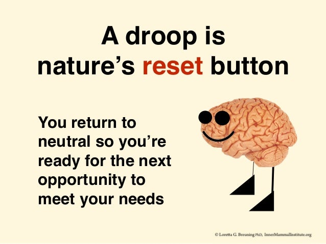 A droop is nature's reset button You return to neutral so you're ready for the next opportunity to meet your needs