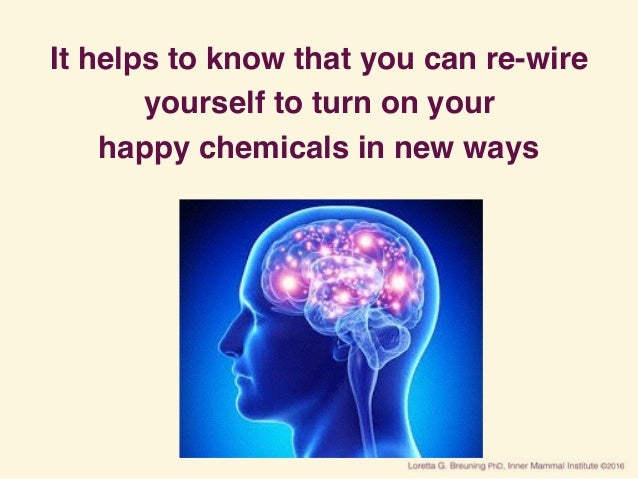 It helps to know that you can re-wire yourself to turn on your happy chemicals in new ways
