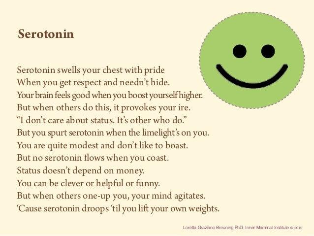 Loretta Graziano Breuning PhD, Inner Mammal Institute © 2015 Serotonin swells your chest with pride When you get respect a...