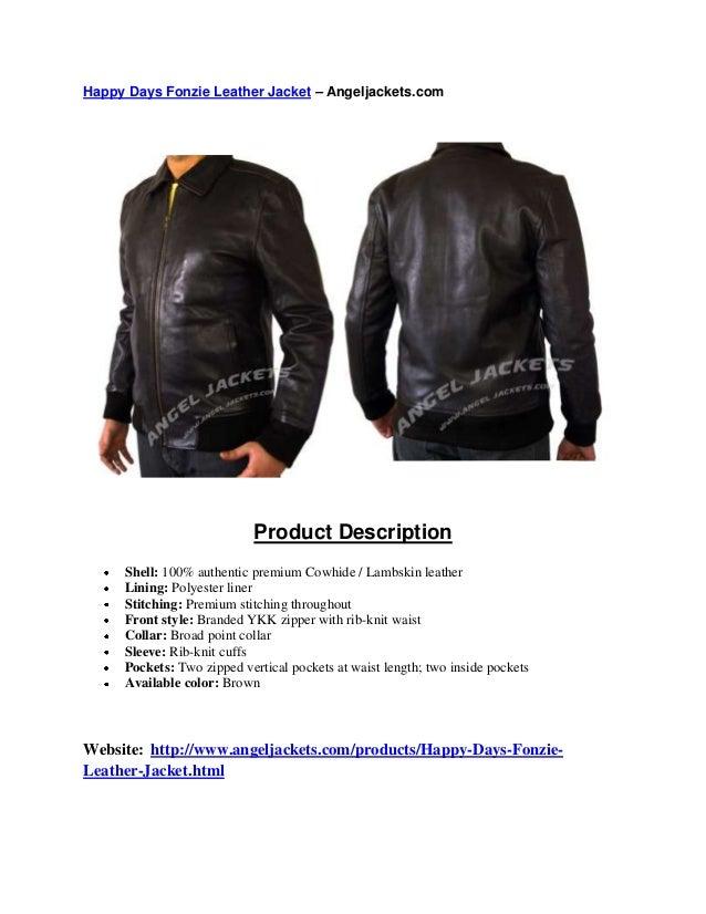 Happy Days Fonzie Leather Jacket – Angeljackets.com Product Description Shell: 100% authentic premium Cowhide / Lambskin l...