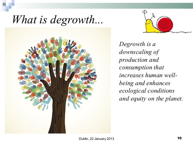 What is degrowth... Degrowth is a downscaling of production and consumption that increases human wellbeing and enhances ec...