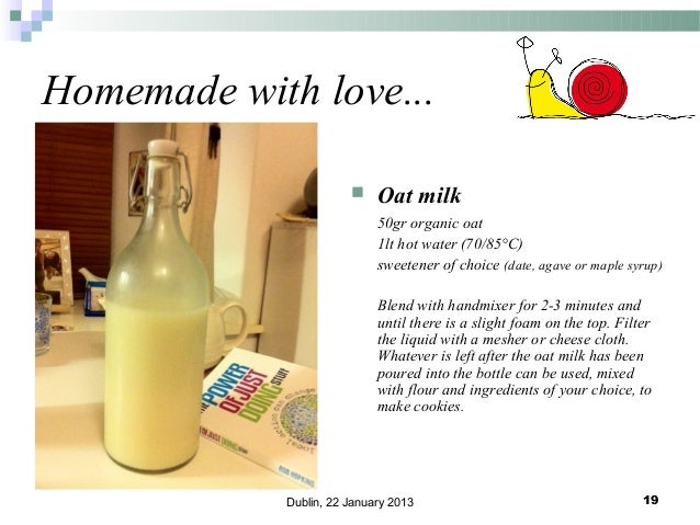 Homemade with love...   Oat milk 50gr organic oat 1lt hot water (70/85°C) sweetener of choice (date, agave or maple syrup...