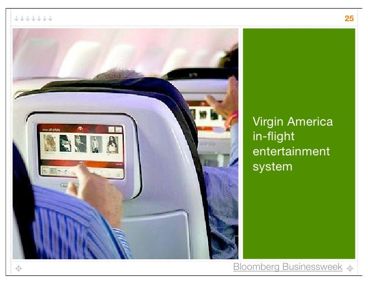 25   Virgin America   in-flight   entertainment   systemBloomberg Businessweek