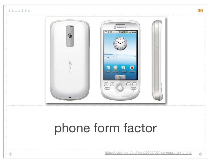 36phone form factor        http://dvice.com/archives/2009/02/htc-magic-bring.php
