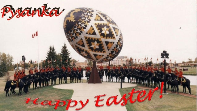 Vegreville egg is a giant sculpture of a pysanka, a Ukrainian style Easter egg. It is the largest pysanka sculpture in the...