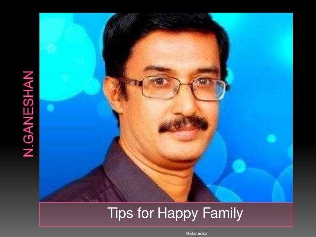 Tips for Happy Family N.Ganeshan