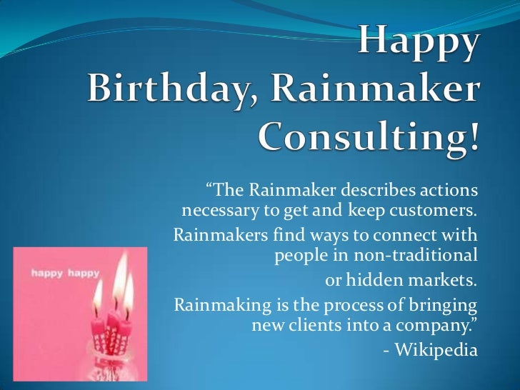 """""""The Rainmaker describes actions necessary to get and keep customers.Rainmakers find ways to connect with            peopl..."""