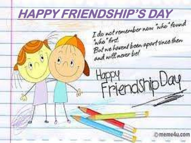 HAPPY FRIENDSHIP'S DAY