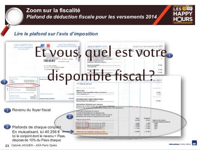 Happy hours de la retraite cabinet axa paris opera - Plafond revenu fiscal de reference 2014 ...