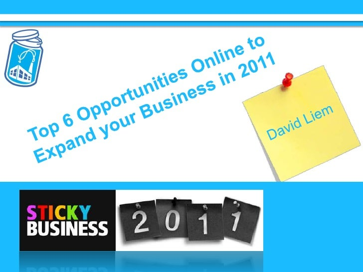 Top 6 Opportunities Online to Expand your Business in 2011<br />David Liem<br />