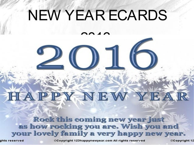Happy New Year Ecards