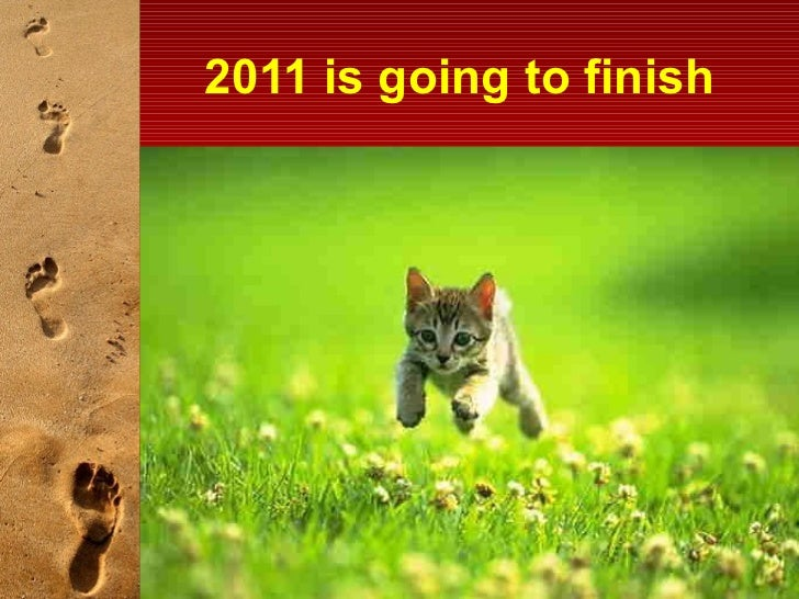 2011 is going to finish
