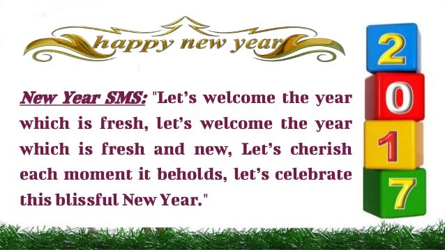 New Year SMS: ...