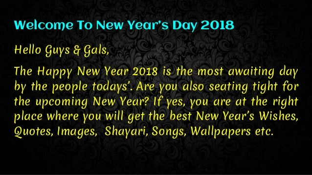 Happy New Year 2018 The Best Way To Celebrate The Day