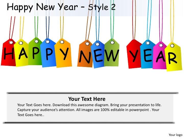 Happy New Year Powerpoint Dokya Kapook Co